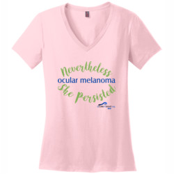 Nevertheless - District Made® - Ladies Perfect Weight® V-Neck Tee - DTG