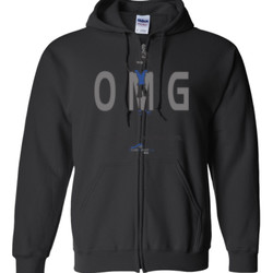OM Girl2 - Gildan - Full Zip Hooded Sweatshirt - DTG