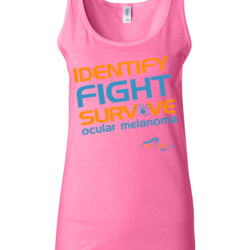 Identify-Fight-Survive - Gildan - 64200L (DTG) 4.5 oz Softstyle ® Junior Fit Tank Top