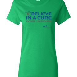 Eye Belive In A Cure - Gildan - Ladies 100% Cotton T Shirt - DTG