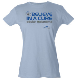 Eye Belive In A Cure - Tultex - Ladies' Slim Fit Fine Jersey Tee (DTG)