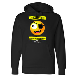 CAUTION-Avoid My Blindside (Front Only) - Independent Trading Co. 10oz. Hooded Pullover Sweatshirt-POD