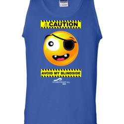 CAUTION-Avoid My Blindside (Front Only) - Gildan - 2200 (DTG) - 6oz 100% Cotton Tank Top