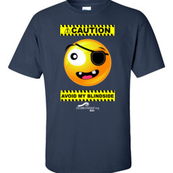 CAUTION-Avoid My Blindside (Front Only) - Gildan - 6.1oz 100% Cotton T Shirt - DTG