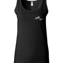 CAUTION-Avoid My Blindside (Front & Back)  - Gildan - 64200L (DTG) 4.5 oz Softstyle ® Junior Fit Tank Top