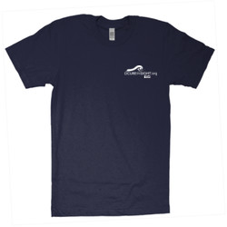 CAUTION-Avoid My Blindside (Front & Back)  - American Apparel - Unisex Fine Jersey T-Shirt - DTG