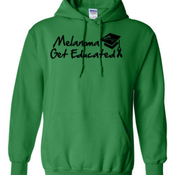 Get Educated - Gildan - 8 oz. 50/50 Hooded Sweatshirt - DTG