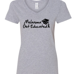 Get Educated - Gildan - 5V00L (DTG) - 100% Cotton V Neck T Shirt