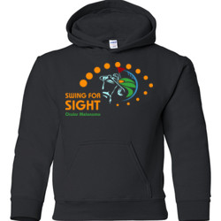 Swing For Sight - Gildan - 18500B (DTG) - 50/50 Youth Hooded Sweatshirt