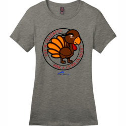 Eye'm Thankful For A Cure In Sight - District - DM104L (DTG) - Ladies Crew Tee