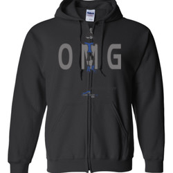 OM Guy2 - Gildan - Full Zip Hooded Sweatshirt - DTG