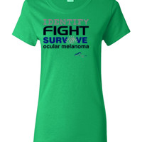 Identify-Fight-Survive - Gildan - Ladies 100% Cotton T Shirt - DTG
