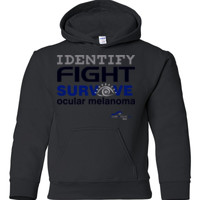 Identify-Fight-Survive - Gildan - 18500B (DTG) - 50/50 Youth Hooded Sweatshirt