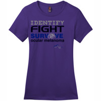 Identify-Fight-Survive - District - DM104L (DTG) - Ladies Crew Tee