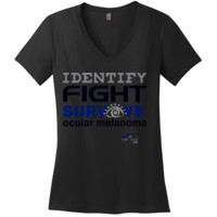 Identify-Fight-Survive - District Made® - Ladies Perfect Weight® V-Neck Tee - DTG