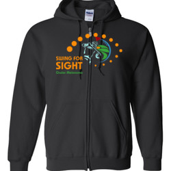 Swing For Sight - Gildan - Full Zip Hooded Sweatshirt - DTG