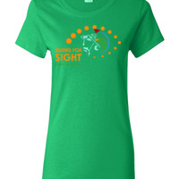 Swing For Sight - Gildan - Ladies 100% Cotton T Shirt - DTG