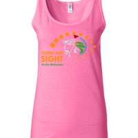 Swing For Sight - Gildan - 64200L (DTG) 4.5 oz Softstyle ® Junior Fit Tank Top