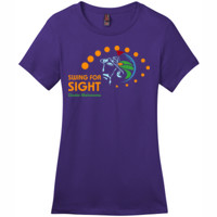 Swing For Sight - District - DM104L (DTG) - Ladies Crew Tee