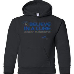 Eye Belive In A Cure - Gildan - 18500B (DTG) - 50/50 Youth Hooded Sweatshirt
