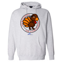 Eye'm Thankful For A Cure In Sight - Independent Trading Co. 10oz. Hooded Pullover Sweatshirt-POD