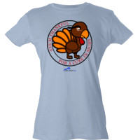 Eye'm Thankful For A Cure In Sight - Tultex - Ladies' Slim Fit Fine Jersey Tee (DTG)