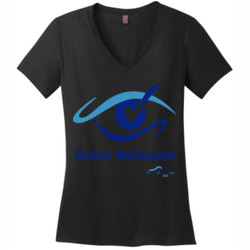 OM Check - District Made® - Ladies Perfect Weight® V-Neck Tee - DTG