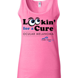 Looking For A Cure - Gildan - 64200L (DTG) 4.5 oz Softstyle ® Junior Fit Tank Top