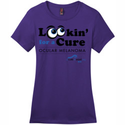 Looking For A Cure - District - DM104L (DTG) - Ladies Crew Tee