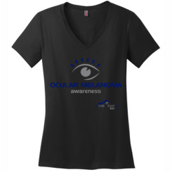 ACIS Awareness - District Made® - Ladies Perfect Weight® V-Neck Tee - DTG
