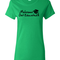 Get Educated - Gildan - Ladies 100% Cotton T Shirt - DTG