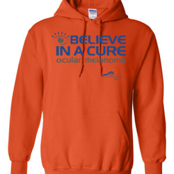 Eye Belive In A Cure - Gildan - 8 oz. 50/50 Hooded Sweatshirt - DTG