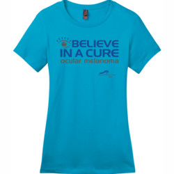 Eye Belive In A Cure - District - DM104L (DTG) - Ladies Crew Tee