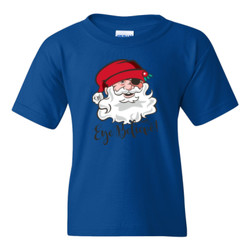 Eye Believe Holiday Shirt - Gildan - 5000B (DTG) - Youth 5.3oz 100% Cotton T Shirt