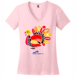 Eye'm Thankful - District Made® - Ladies Perfect Weight® V-Neck Tee - DTG