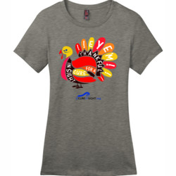 Eye'm Thankful - District - DM104L (DTG) - Ladies Crew Tee