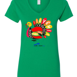 Eye'm Thankful - Gildan - 5V00L (DTG) - 100% Cotton V Neck T Shirt