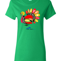 Eye'm Thankful - Gildan - Ladies 100% Cotton T Shirt - DTG