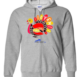 Eye'm Thankful - Gildan - Full Zip Hooded Sweatshirt - DTG