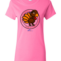 Eye'm Thankful For A Cure In Sight - Gildan - Ladies 100% Cotton T Shirt - DTG