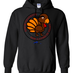 Eye'm Thankful For A Cure In Sight - Gildan - 8 oz. 50/50 Hooded Sweatshirt - DTG