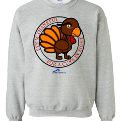 Eye'm Thankful For A Cure In Sight - Gildan - 8oz. 50/50 Crewneck Sweatshirt - DTG
