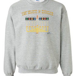 Eye Believe In Miracles  - Gildan - 8oz. 50/50 Crewneck Sweatshirt - DTG
