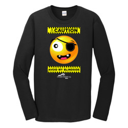 CAUTION-Avoid My Blindside (Front Only) - Gildan - Softstyle ® Long Sleeve T Shirt - DTG